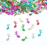 Multicolored Music Note Confetti