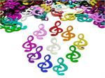 Music Note Confetti Multi Color Metallic Pound or Packet
