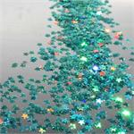 Prismatic Sea Green Star Shaped Confetti