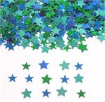 Star Confetti Greens and Blues Metallic