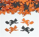Orange and Black Witch Confetti