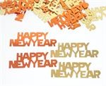 Orange and Gold Happy New Year Confetti