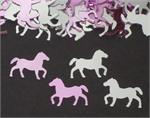 Horse Confetti Pink and Silver Horses