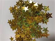 Large Prismatic Gold Star Shaped Confetti