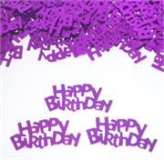 Happy Birthday Confetti Purple