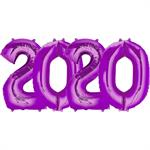 Purple Number 2020 Balloon Large Helium Size