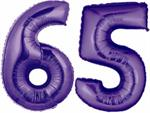 Large Purple Number 65 Balloons will Float