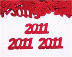 Red Number 2011 Confetti