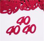 Red Number 40 Confetti