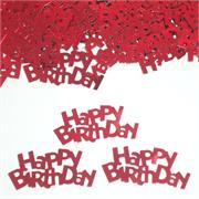 Happy Birthday Confetti Red
