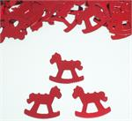 Red Rocking Horse Confetti