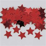 Shiny Red Star Confetti Medium Size Bulk or Packet