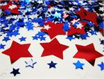 Red, White, & Blue Star Confetti, Galaxy