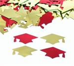 Red and Gold Graduation Confetti, Trojan School Colors Confetti