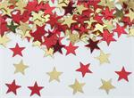 Red and Gold Star Confetti