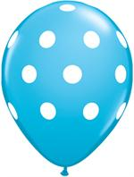 Robins Egg Blue Polka Dot Balloon, 11