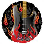 Rock Star Guitar Balloon with Flames