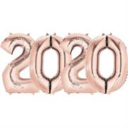 Number 2020 Balloons Rose Gold