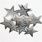 Silver Embossed Star Confetti Large