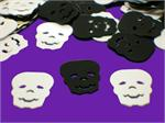 Skull Shaped Confetti Black White