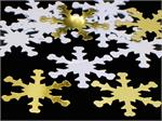 Snowflake Confetti Gold and White