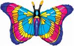 Stained Glass Look Butterfly Balloon, 36