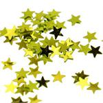 Tiny Gold Metallic Star Shaped Confetti