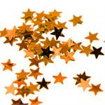 Tiny Orange Metallic Stars Confetti