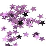 Tiny Pink Metallic Star Shaped Confetti