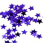 Purple Star Confetti Shiny Metallic