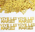 Vive Les Maries (Good Luck in French) Confetti