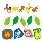 Jungle Animal Confetti Zebra, Monkey, Lion, Giraffe