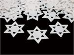 White Star of David Confetti
