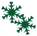 Metallic Green Snowflake Shaped Confetti Bulk or Packet