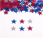Small Red, Silver and Blue Star Confetti