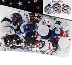Soccer Ball Confetti with Stars