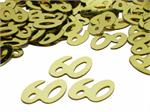 Gold Number 60 Confetti