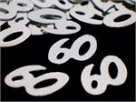 60th  Confetti. Silver Number 60