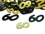 Black and Gold Number 60 Confetti