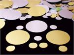 Gold and Silver Round Confetti in Assorted Sizes