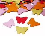Butterfly Confetti, orange, red, gold and pink