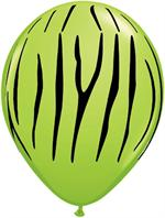 lime green zebra print Biodegradeable balloons